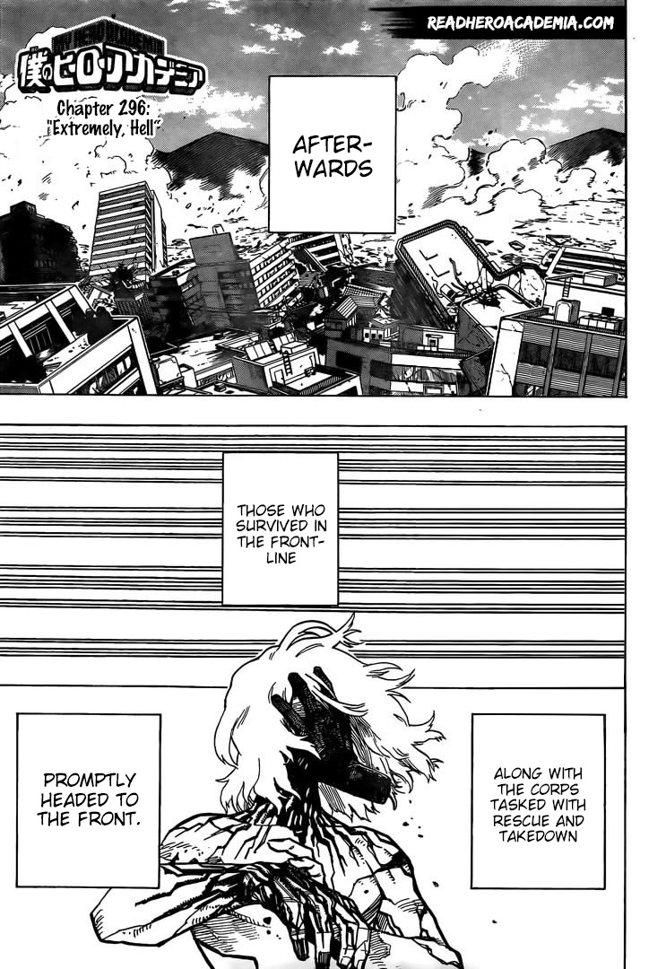 Boku no Hero Academia Chapter 296 Page 1